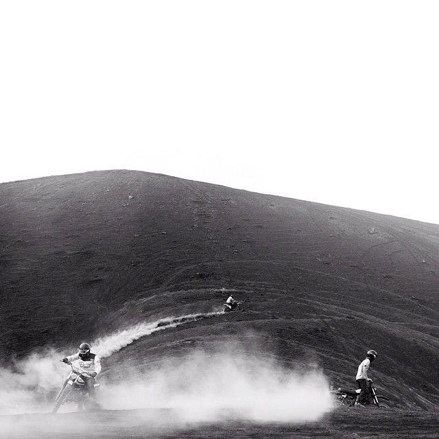 The @Deus Bali boys getting dusty on Bali's beautiful Volcanoes. Photo by @woodygphoto