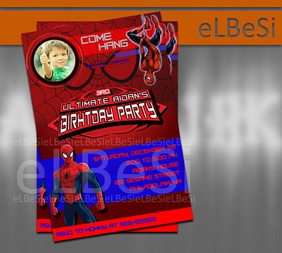 Ultimate Spiderman Birthday Invitation 2  - Invitation Card