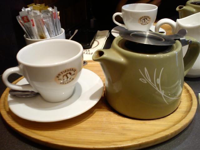 Suki Darjeeling Tea at Patisserie Valerie at Brunswick Centre in Russell Square, London