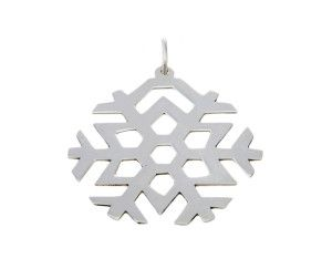 Unusual christening gifts - For Christmas babies and christenings - Silver Snowflake Keepsake pendant - £45 from www.saffronbells.com/gifts/silver-snowflake-keepsake/