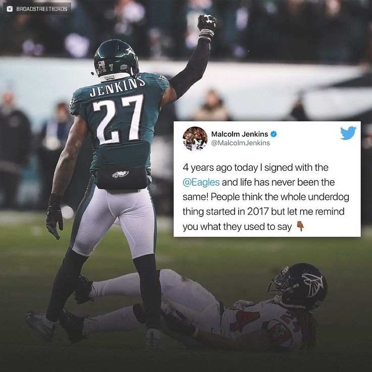 4 years ago when @malcolmjenkins27 was signed Bleacher Report quoted: - Jenkins is barely a starting-caliber player. He's an upgrade over Nate Allen who hasn't been re-signed or Patrick Chung who was released on Tuesday but safety is the one spot at which the Eagles had to spend some cash in order to make a splash and that just didn't happen. Actually the worst part is that they did spend cash without making the splash. The deal is worth $5.5 million per year with $8.5 million guaranteed per…