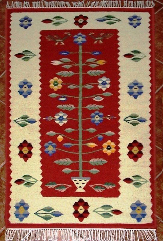 Handmade romanian traditional rug runner - Covor romanesc traditional lucrat manual - Canada