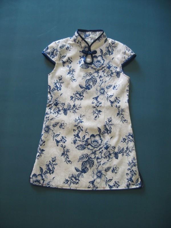 Girl Floral Cheongsam / Qipao / Chinese Dress