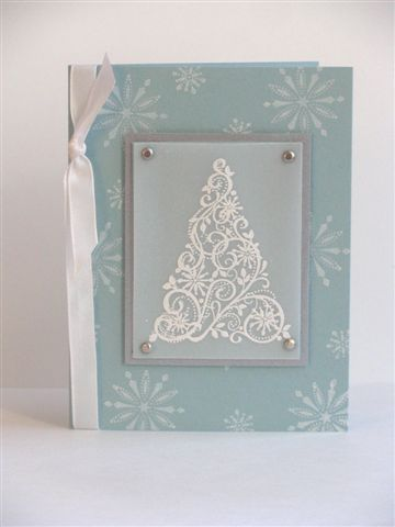 Snow Swirled Christmas Card by lisa07058 - Cards and Paper Crafts at Splitcoaststampers