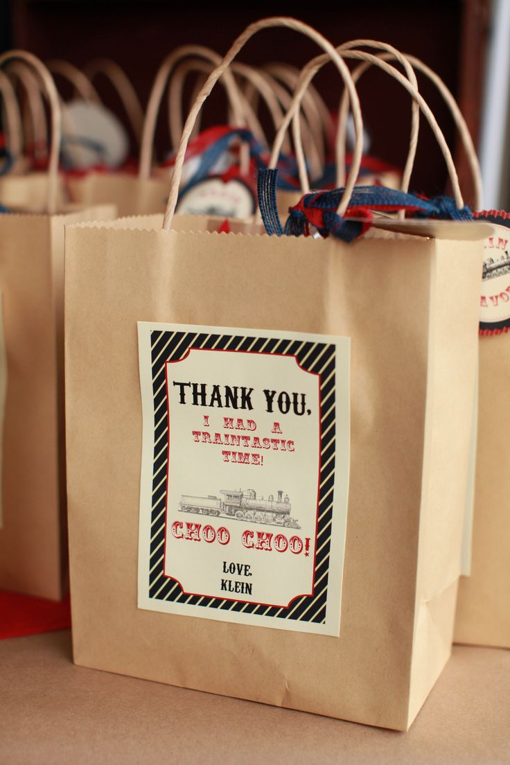 Custom Thank You Note On The Party Favor Bag Quot Thank You