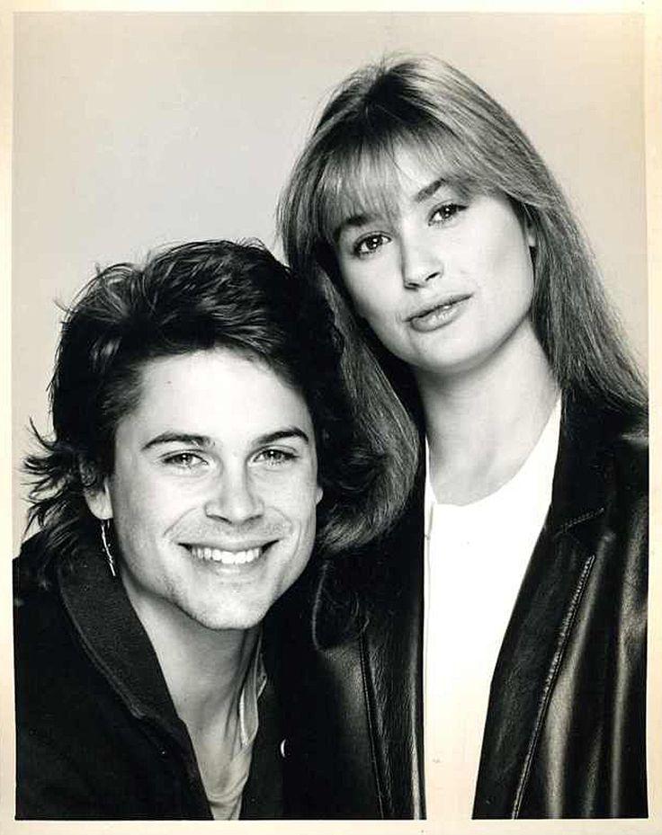 Rob Lowe & Demi Moore publicity photo for St. Elmo's Fire (1985)  (via http://www.pinterest.com/camdesigns/)