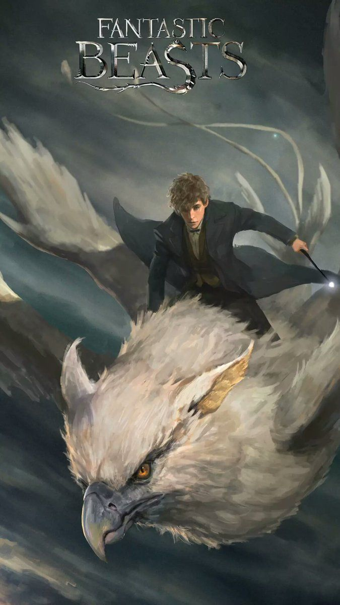 I don't really like this picture because I feel that Newt wouldn't ride one of his creatures. Especially one he was going to set free like Frank.:( But the art is good.