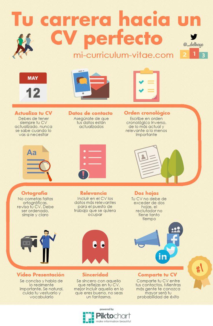 un curriculum vitae perfecto  infografia  infographic  empleo