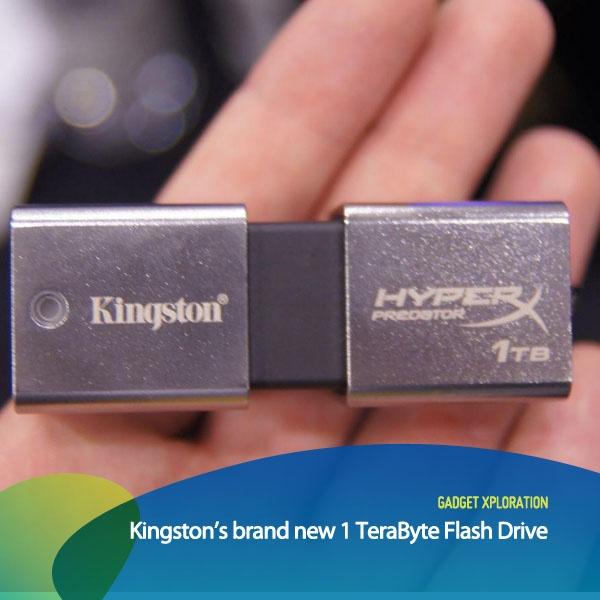 Produsen hardware komputer, Kingston merilis sebuah portable drive/ flashdisk berukuran mini dengan kapasitas terbesar bernama Data Traveller Hyper X Predator. Flash disk USB 3.0 ini memiliki kapasitas sebesar 1 TeraByte (1024 GB).    *as posted on XL Rame