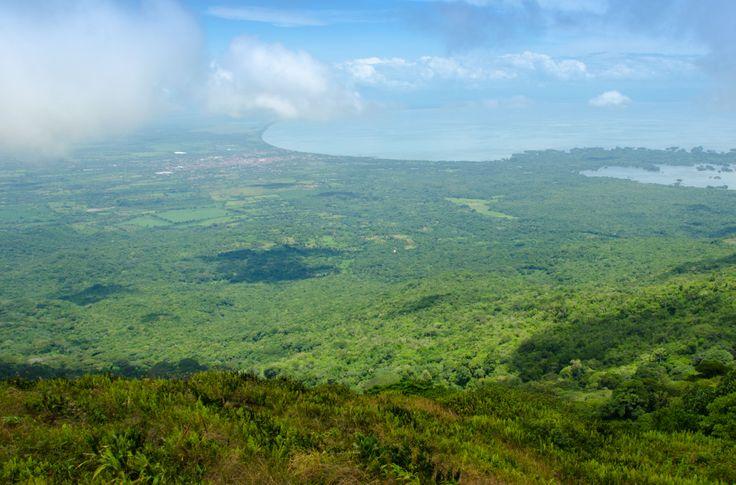 Lake Nicaragua viewed from Mombacho Volcano