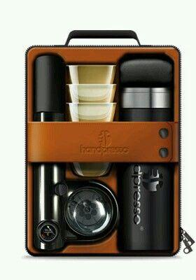 portable espresso picnic & case