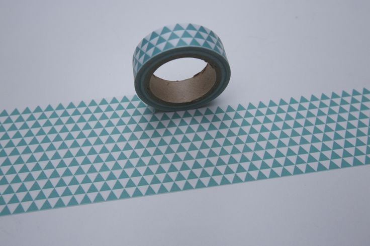 Tape DREIECKE 3ECKE mint/türkis von washitapes auf DaWanda.com