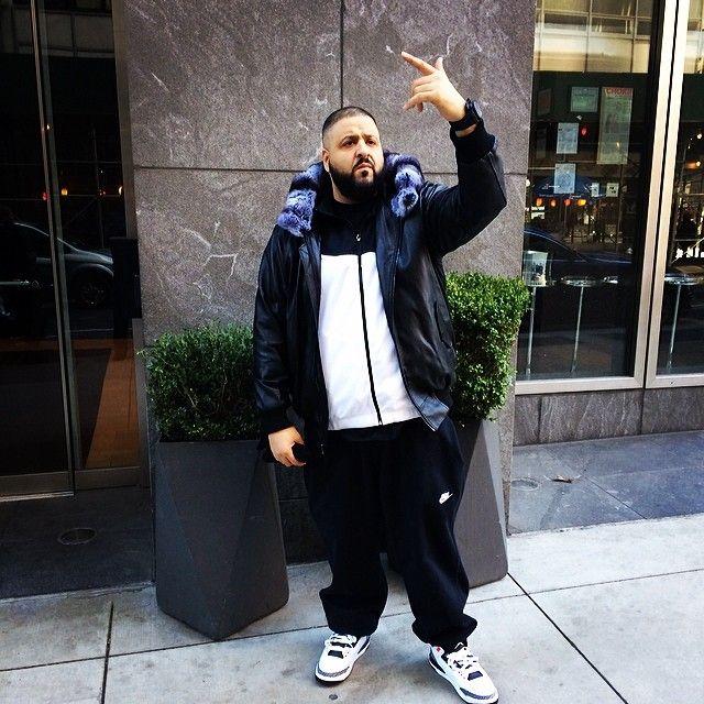 eb702467604054 ... DJ Khaled wearing Air Jordan 3 III Retro Infrared 23 ...