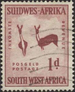 Stamp: Gazelles (South-West Africa) Mi:NA-SW 279,Sn:NA-SW 249,Yt:NA-SW 237