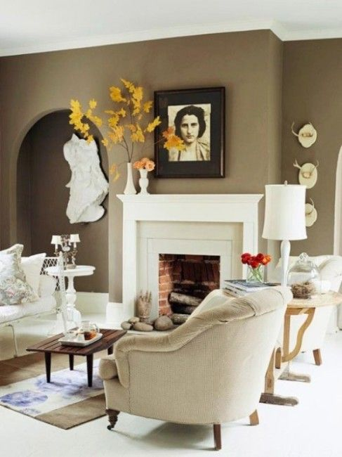 63 #Amazing #Fall #Mantel #Décor #Ideas