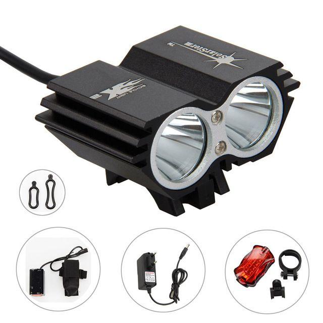 Rechargeable 6000LM 3X XM-L U2 LED Front Bike Bicycle light HeadLight 6400mAh
