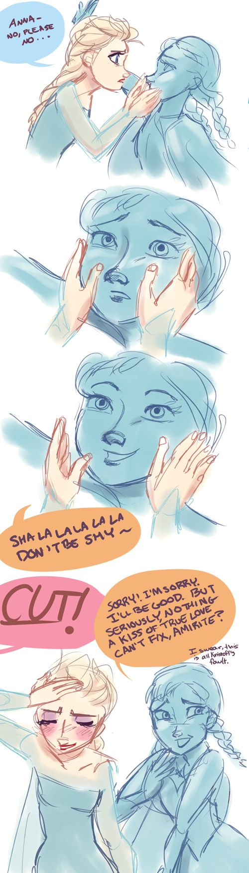 Hilarious Frozen Actor!AU- Ruining the Moment by maybelletea.deviantart.com on @deviantART