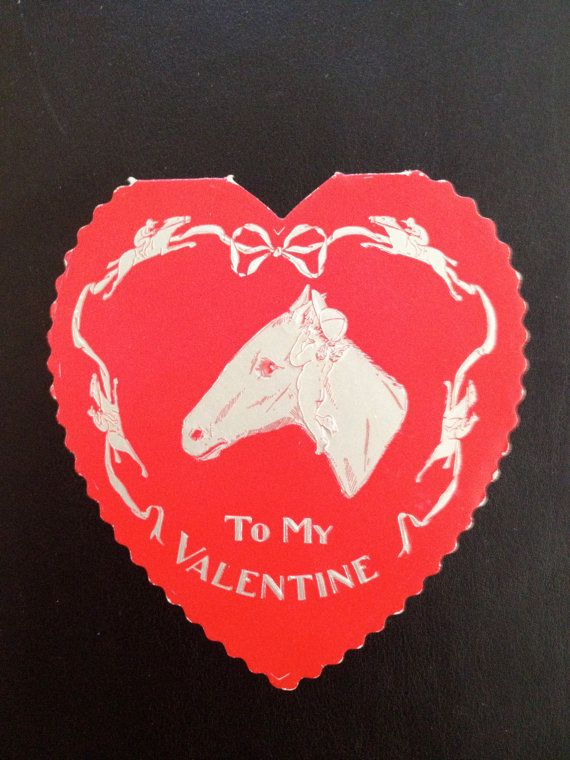 109 best lovehorses images on pinterest beautiful horses horse vintage equine valentine greeting card with horse cherub and jockey m4hsunfo Images