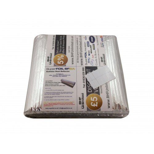 SuperFOIL RadPack 5 m x 60 cm Energy Saving Heat Reflector Radiator Foil Insulation: Amazon.co.uk: DIY & Tools