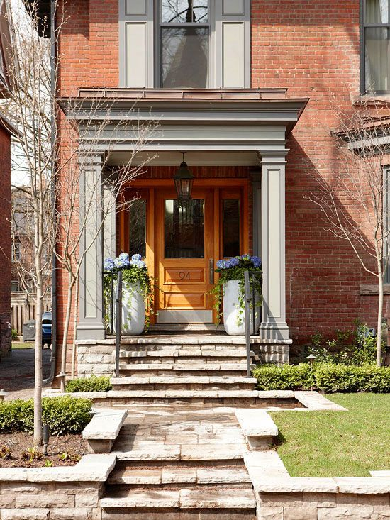 1744 best curb appeal images on pinterest decks door for Brick front house cost
