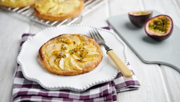 BBC Food - Recipes - Apple and passion fruit tartlets