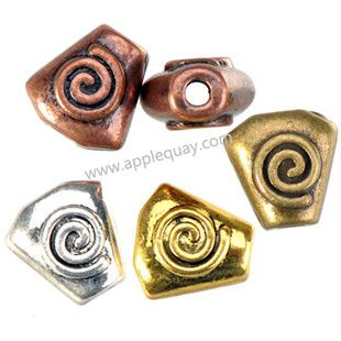 Zinc Alloy Spiral Jewelry Beads,Plated,Cadmium And Lead Free,Various Color For Choice,Approx 12.5*12*7.5mm,Hole:Approx 2.5mm,Sold By Bags,No 002541