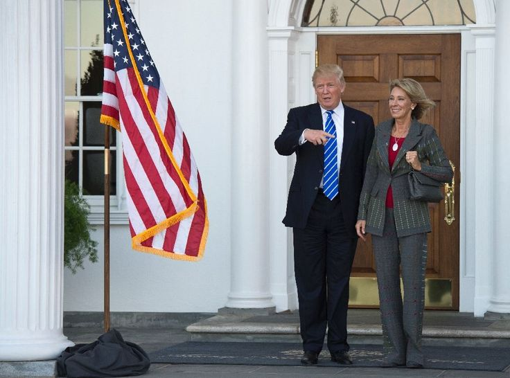Trump picks wealthy activist for education secretary