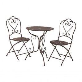 Masa si scaune pentru gradina Jardin Antique Brown
