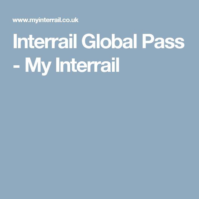 Interrail Global Pass - My Interrail