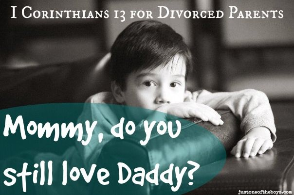 1 Corinthians 13 for Divorced Parents: a must-read post for anyone going through the struggle of co-parenting after divorce!