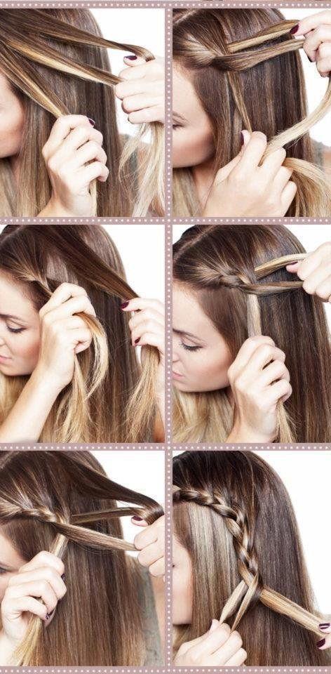 Ce dont vous aurez besoins : Quelques pinces plates 1 petit élastique Comment faire : Rajouter des cheveux dans chaque mèche du dessus de votre tresse a la fin de votre tresses attacher la a l'aide...