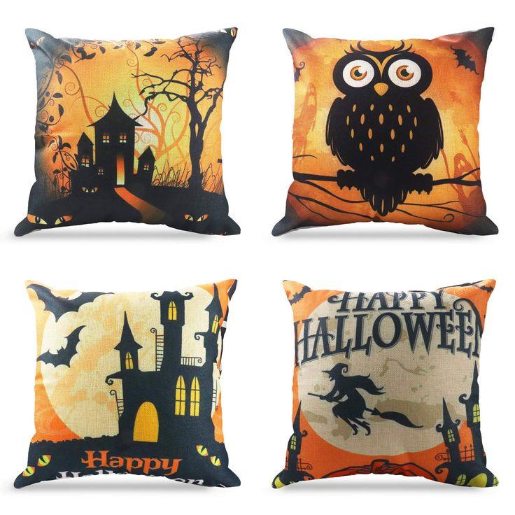 Halloween Home Decor Tricks and Treats Pillows, Throw
