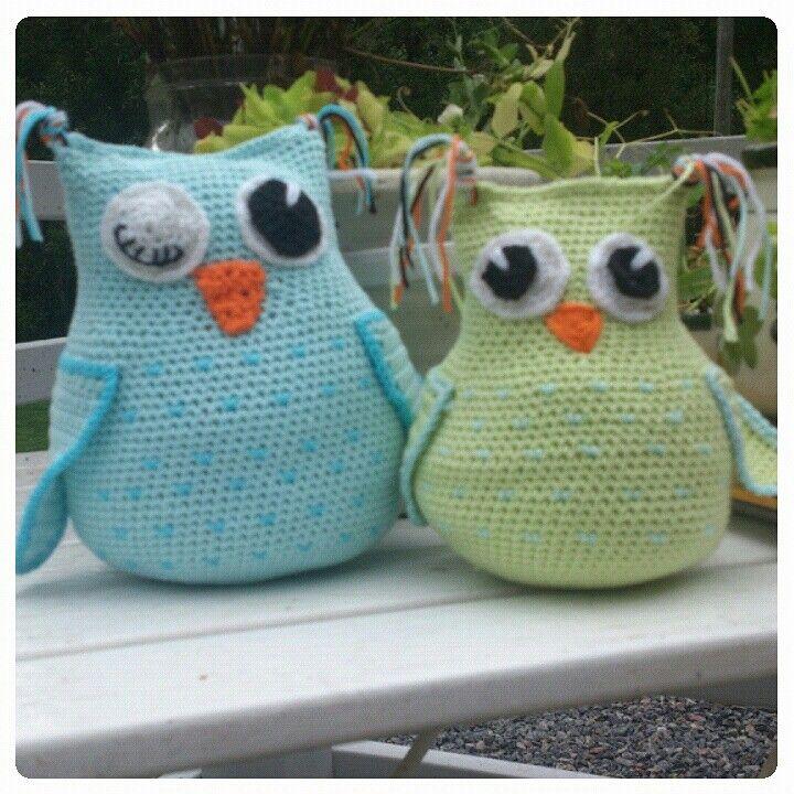 Crochet owl! Virkad uggla
