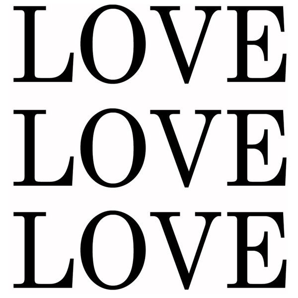 Art in Style 'Love on White' Decoupage On Canvas Art ($115) ❤ liked on Polyvore featuring home, home decor, wall art, text, backgrounds, font, words, phrase, quotes et saying