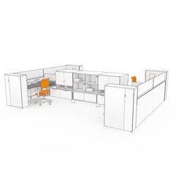 Semi-Enclosed Office 01 - Leverage Furniture by Teknion
