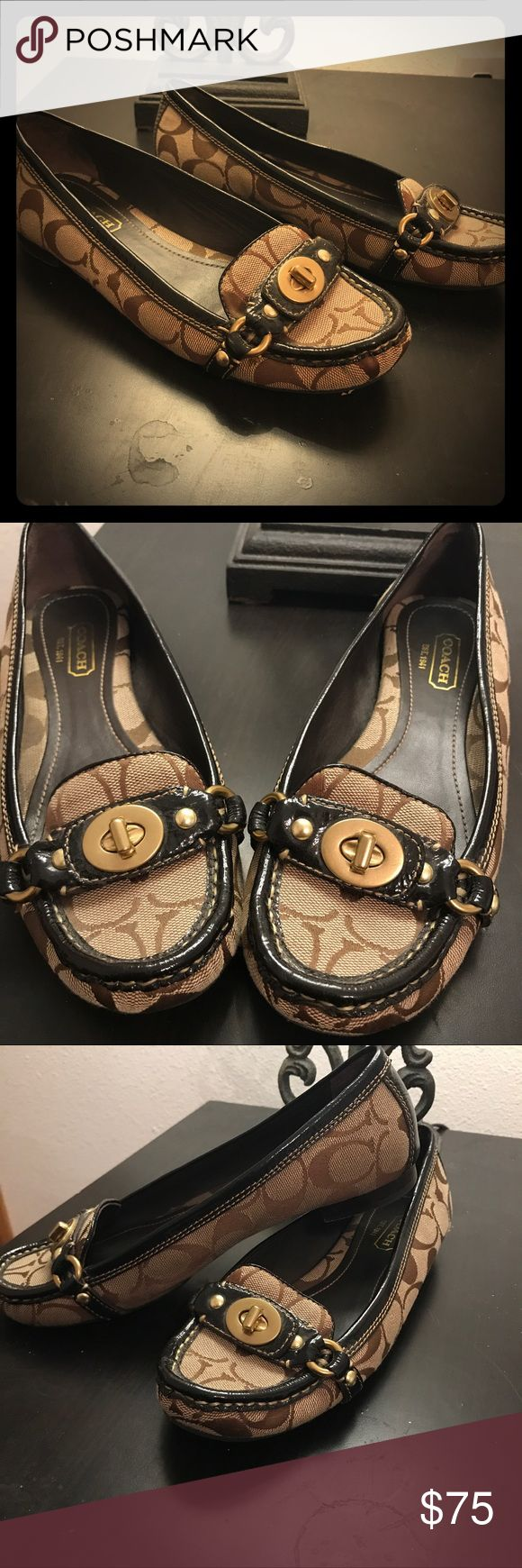 Coach Flats Classic coach flats, super cute and comfortable, great for work or everyday ! In great condition. Size 7 1/2. Has a scuff as show in photos. Coach Shoes Flats & Loafers