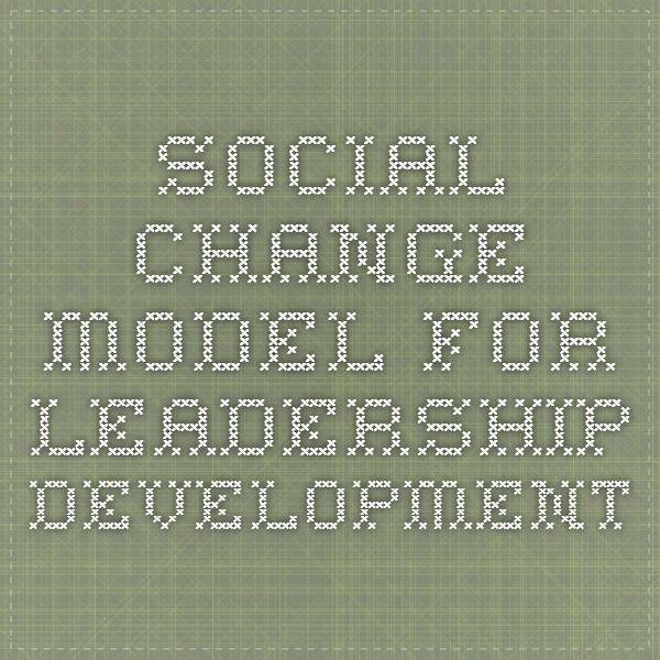 Social Change Model for Leadership Development