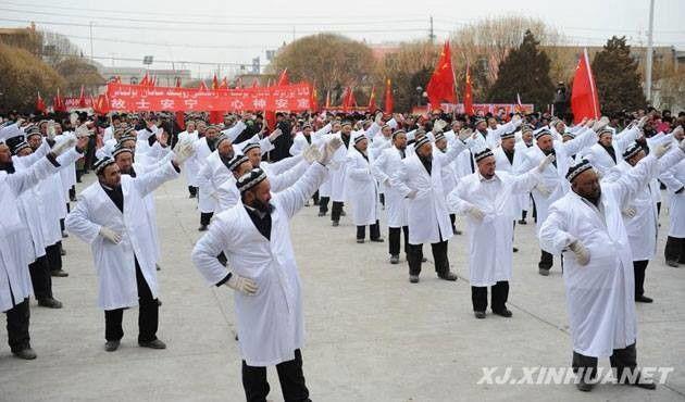 Katil #KillerChina Sakallı Uygur erkekleri ve örtülü kadınların Hastanelere girişleri yasakladı.  #mosque. Kargilik, East #Turkistan #Xinjiang, #SilkRoad. Karghilik #Camii #Kaşgar, Doğu #Türkistan #Hijab #jilbab women and beard men don't allow 2 enter hospital. Not allowed 2 pray in hospital.#Uyghur  #China
