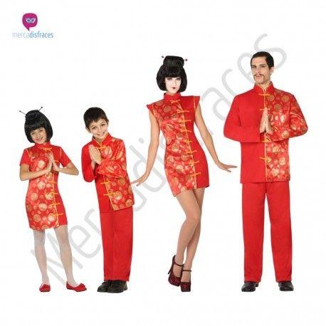Disfraz de #China en rojo para mujer. #disfraces para #grupos #comparsas en #mercadisfraces.es tu #tienda de #disfraces #online
