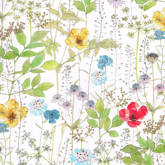 Liberty fabric Irma depicting gorgeous summer meadow flowers
