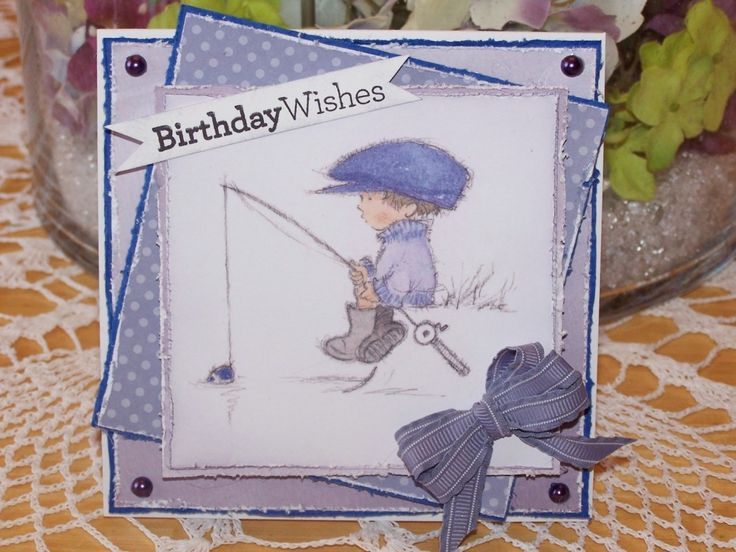 ~Fishing...Patiently ~ by heartsong47 - Cards and Paper Crafts at Splitcoaststampers