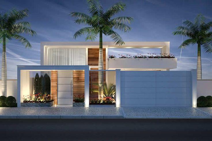 25 melhores ideias de fachada casa terrea no pinterest for Modelos de casas minimalistas de una planta
