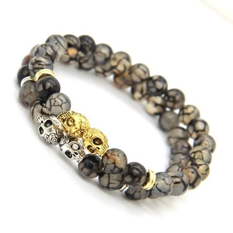 Skull Bracelet (2 colors)