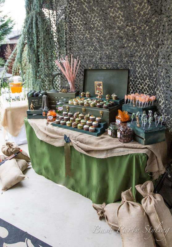 military nerf camo birthday party ideas