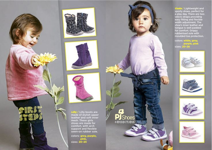 Cute little girl and her shoes