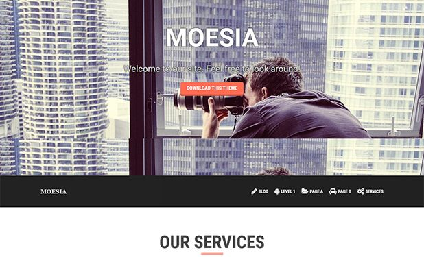 MOESIA - A Great Free Parallax WordPress Theme Perfect For Any Business