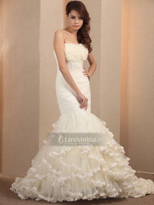 ウェディングドレス マーメイド  ウェディングドレス  ビスチェ  アイボリー  004160002001