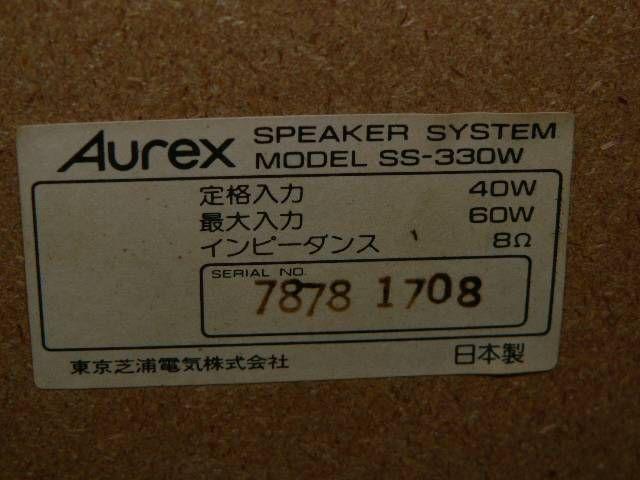 InJapan.ru — * AUREX 38cm акустическая система SS-330W пара * Toshiba — просмотр лота