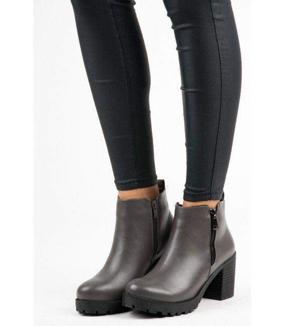 Členkové topánky na zips 6165-5G