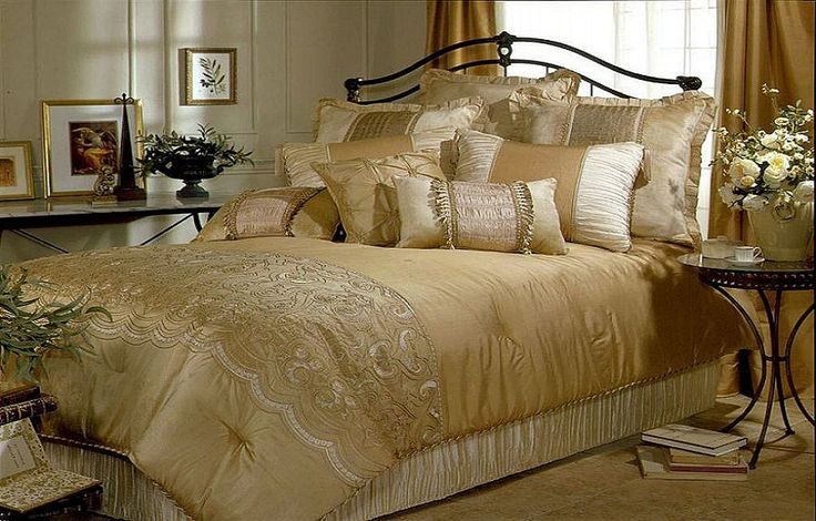 Luxury Gold Bed Comforters Sets ~ http://lanewstalk.com/bed-comforter-sets-for-your-sleep-quality/